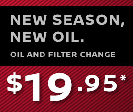 Oil and Filter Change for $19.95*