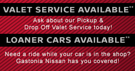 Valet Service and Loaner Cars Available**