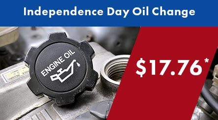 Independence Day Oil Change Special for $17.76*