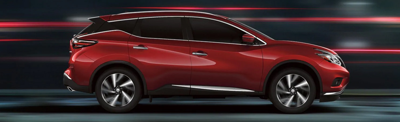 Lifestyle action photo of a Nissan crossover vehicle