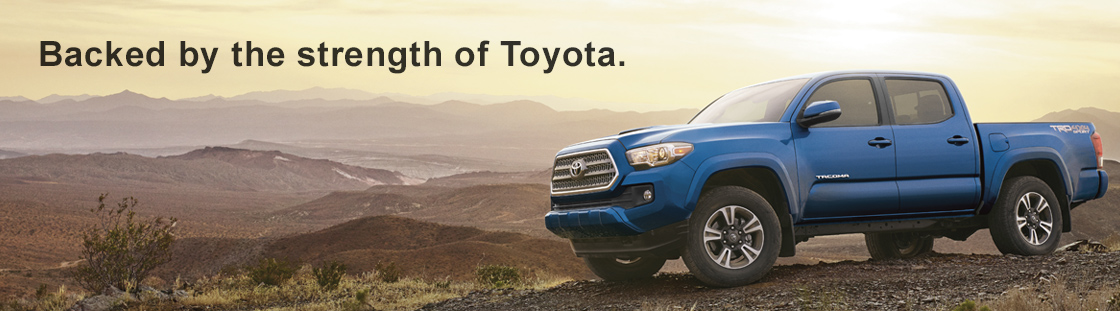 Backed by the strength of Toyota.