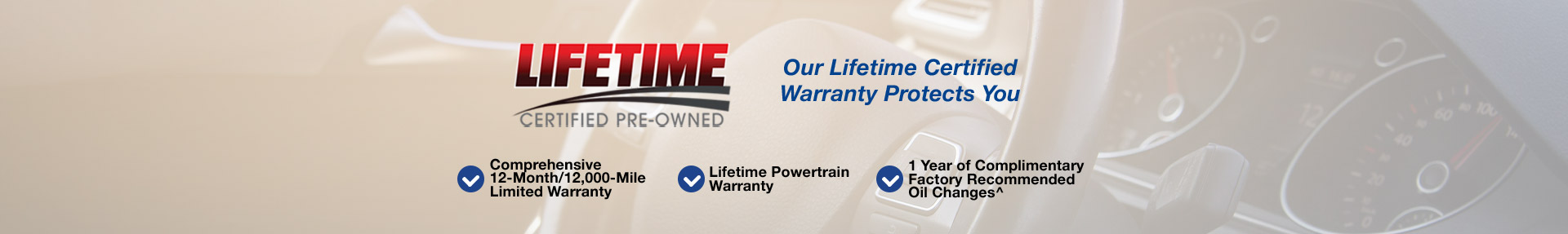 Our Lifetime Certified Warranty Protects You!