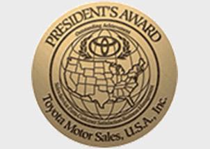 Toyota's President Award
